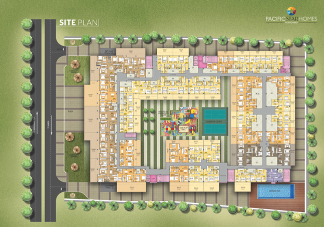Pacific Star Homes Moradabad - Site Plan